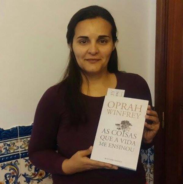 """Sandra Nunes, vencedora do Passatempo – 3 Livros Oprah """"As coisas que a vida me ensinou"""""""