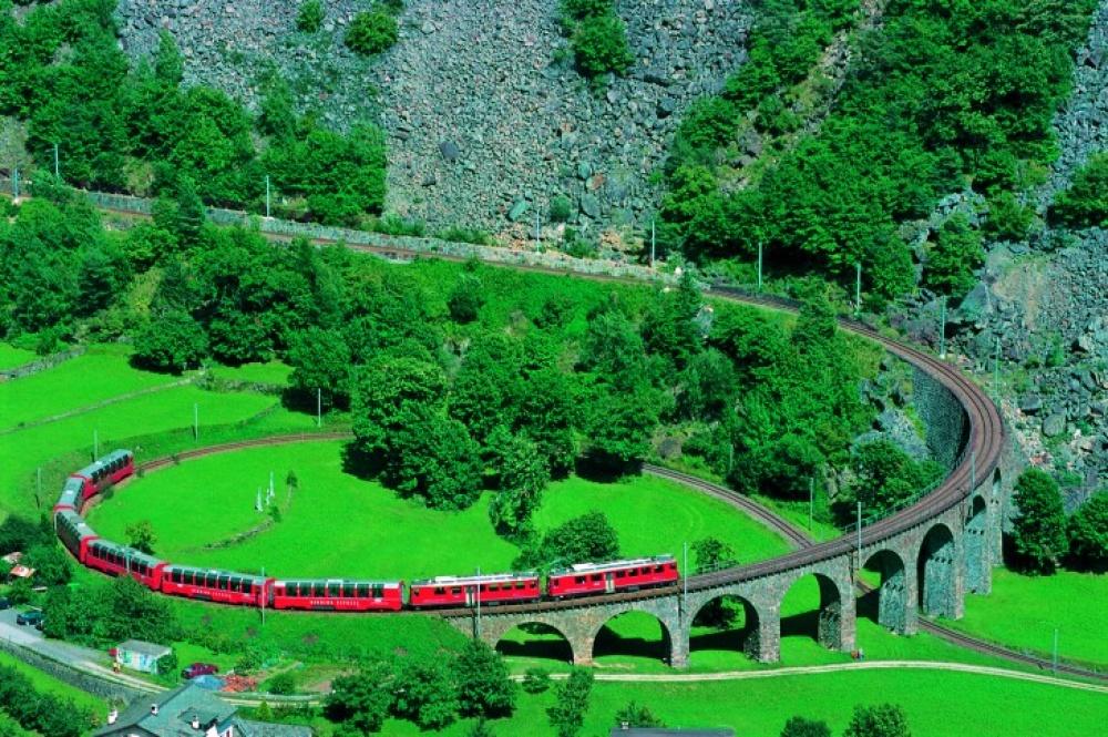 Viagens de Comboio, de sonho - Bernina Express, Suíça e Itália