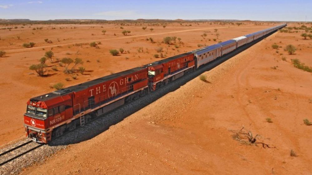 Viagens de Comboio, de sonho - The Ghan, Austrália