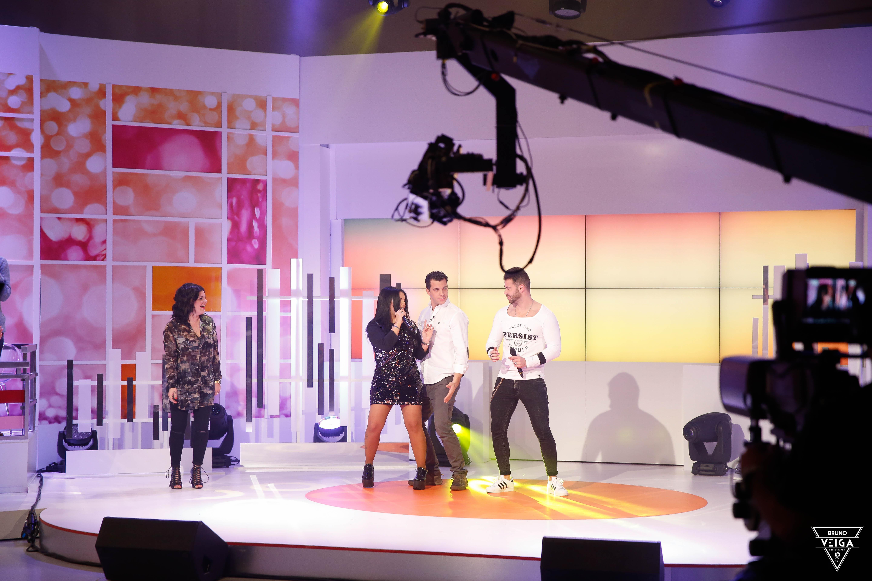 Teresa Guilherme nos bastidores da televisão - Fanny, Luis, Tatiana e Ruben