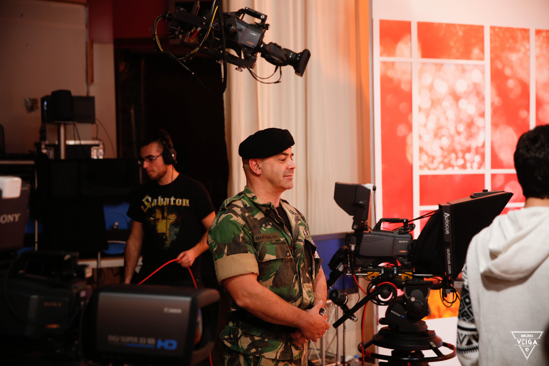 Teresa Guilherme nos bastidores da televisão - o Tenente Martins