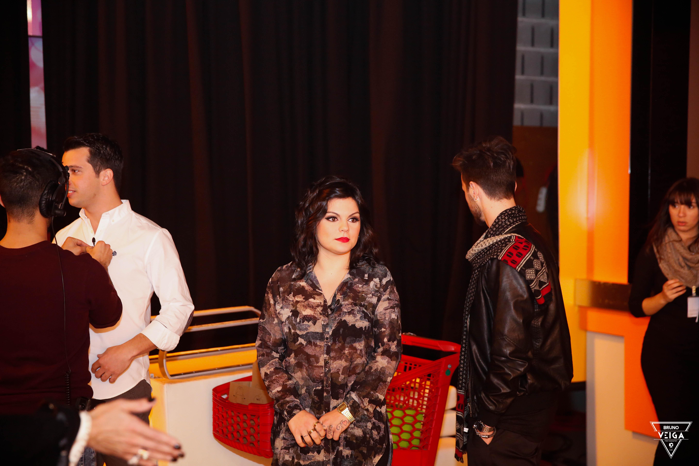 Teresa Guilherme nos bastidores da televisão - Fanny antes de entrar em cena