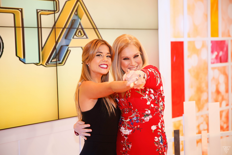 Teresa Guilherme nos bastidores da televisão - com Isabelinha