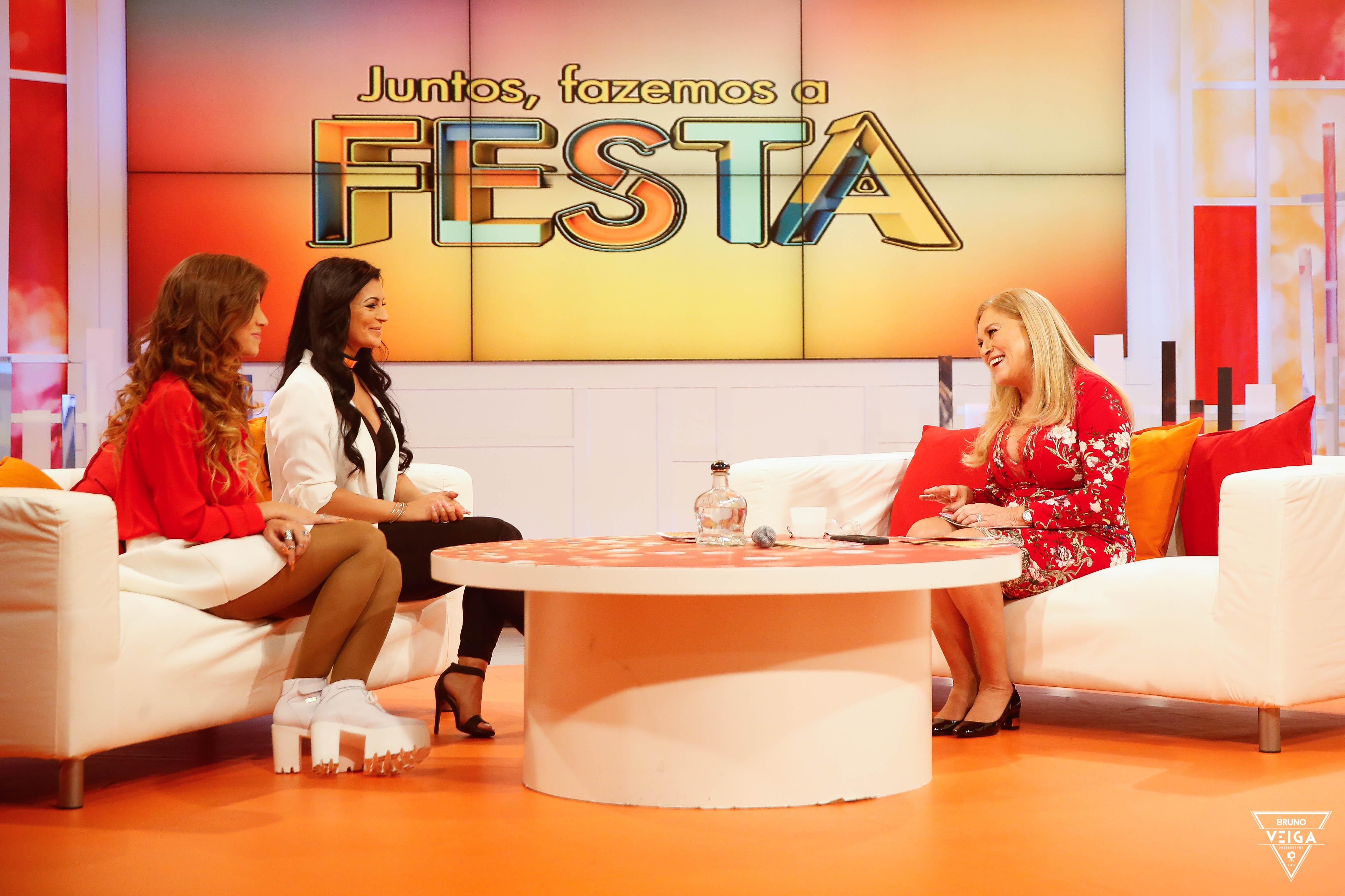 Teresa Guilherme nos bastidores da televisão - Alexandra e a Vânia da Casa dos Segredos