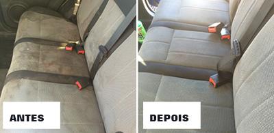 Limpar Superfícies Difíceis - Estofos do Automóvel