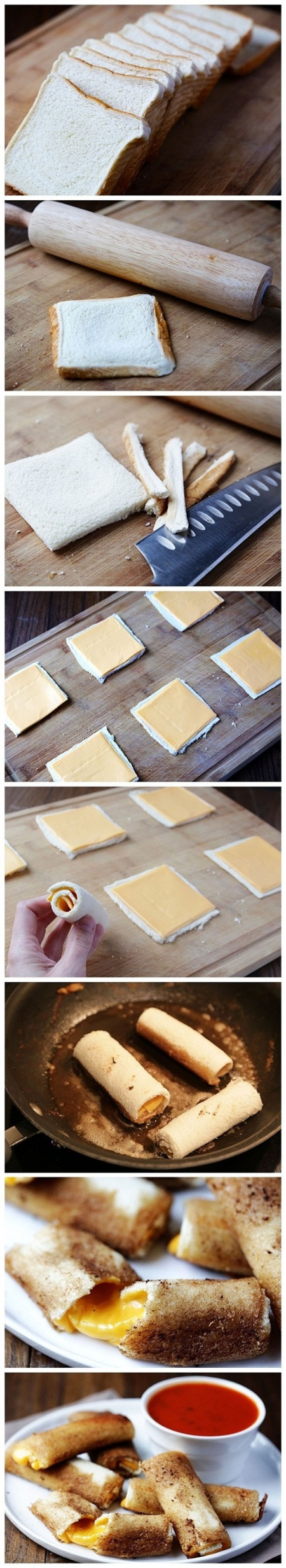 rolinhos de queijo - 10 Alimentos Preparados de Forma Original