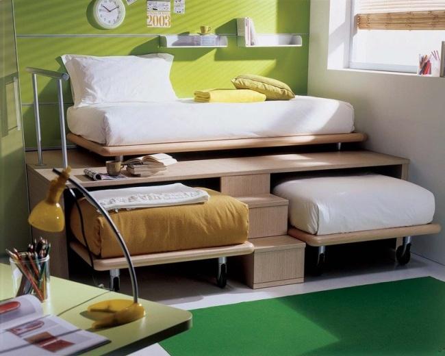 Ideias para espaços pequenos - Camas móveis para as crianças