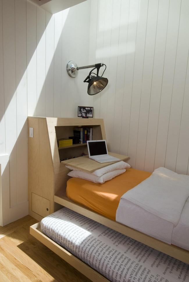 Ideias para espaços pequenos - cama minimalista