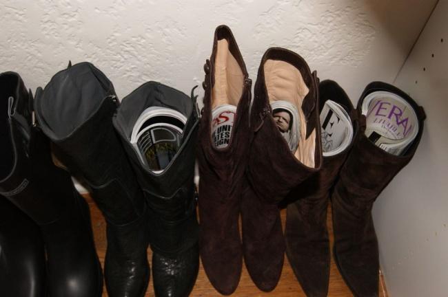 10 truques geniais para a sua roupa e calçado - para que as botas não percam a forma