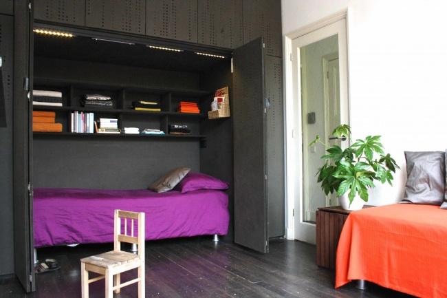Ideias para espaços pequenos - cama escondida