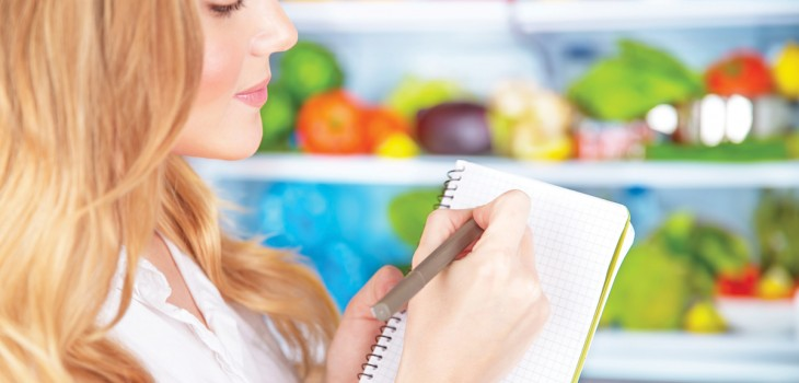 Compras de supermercado para uma vida saudável