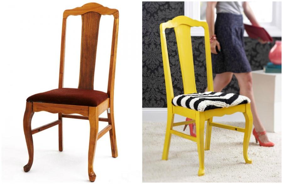 Ideias Para Renovar os Seus Móveis Antigos - cadeira antiga