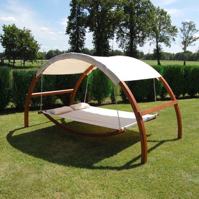 Invenções para tirar o melhor partido do seu jardim - cama baloiço