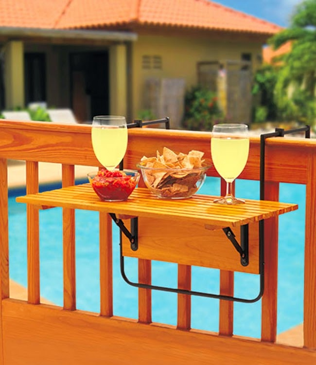 Invenções para tirar o melhor partido do seu jardim - mini mesa portátil