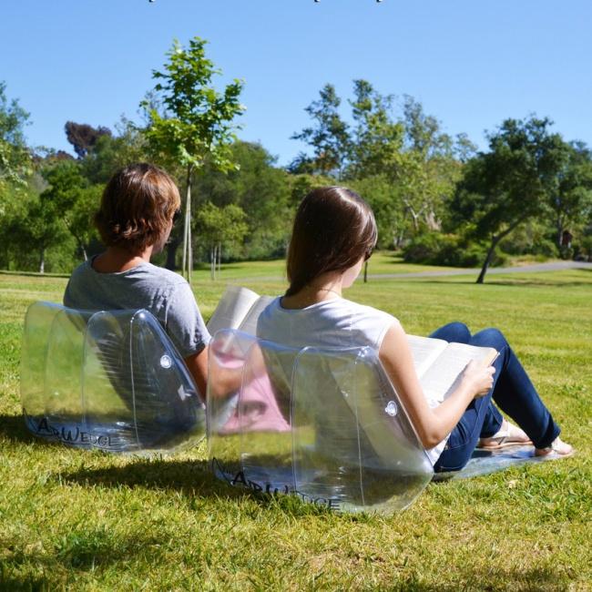 Invenções para tirar o melhor partido do seu jardim - cadeiras insufláveis