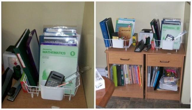 Dicas para nunca mais perder nada - escorredor de louça para guardar livros, pastas e documentos
