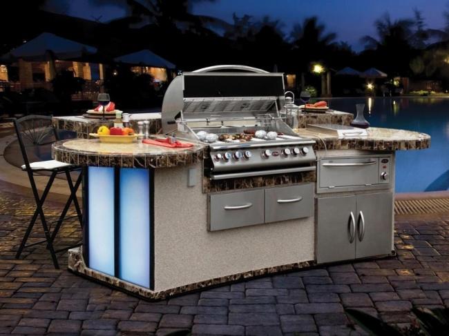 Invenções para tirar o melhor partido do seu jardim - cozinha ao ar livre