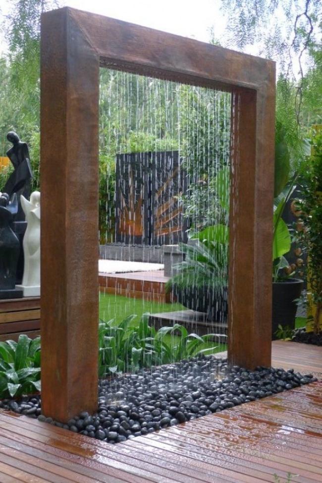 Invenções para tirar o melhor partido do seu jardim - duche tropical
