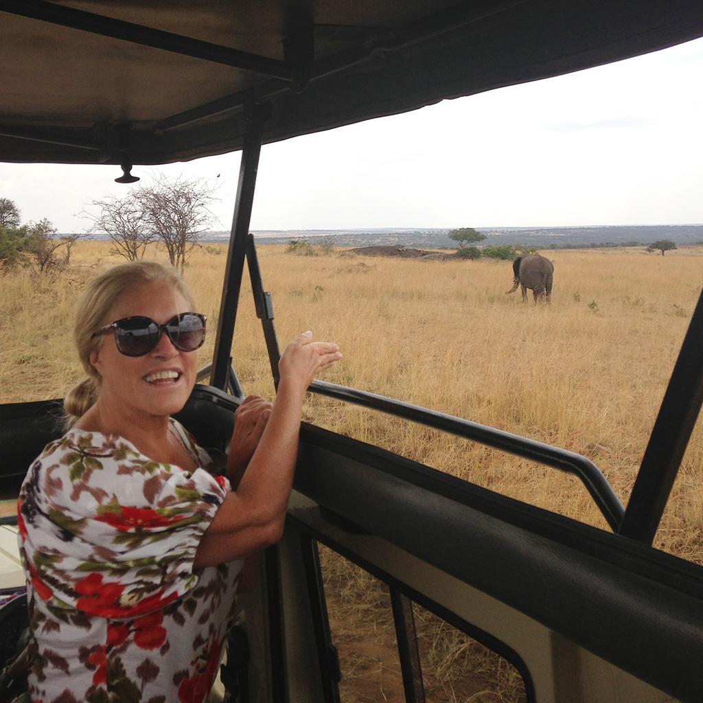 Teresa Guilherme: Adivinha onde é que eu estava? Estava num Safari fotográfico na Tanzânia.