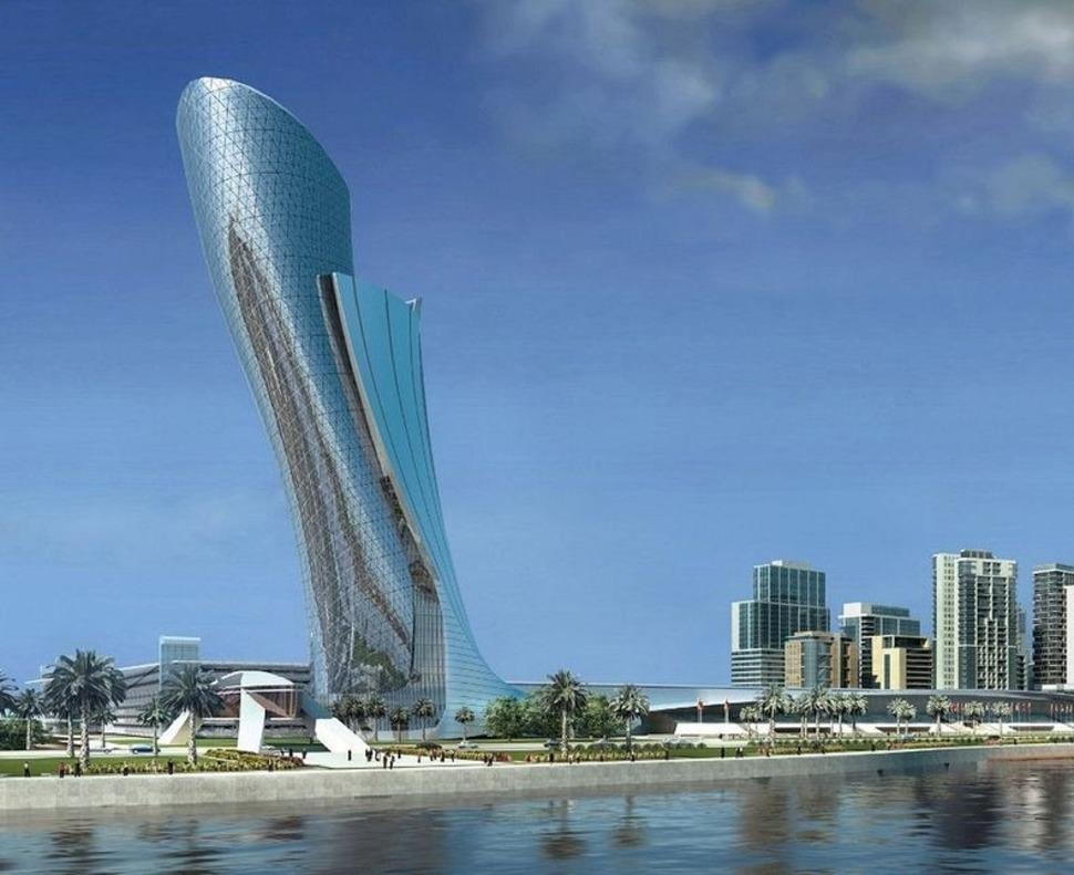 Os prédios mais loucos do Mundo - Capital Gate- Abu Dhabi, Emirados Árabes Unidos