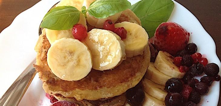 Panquecas de banana e coco, uma delícia!