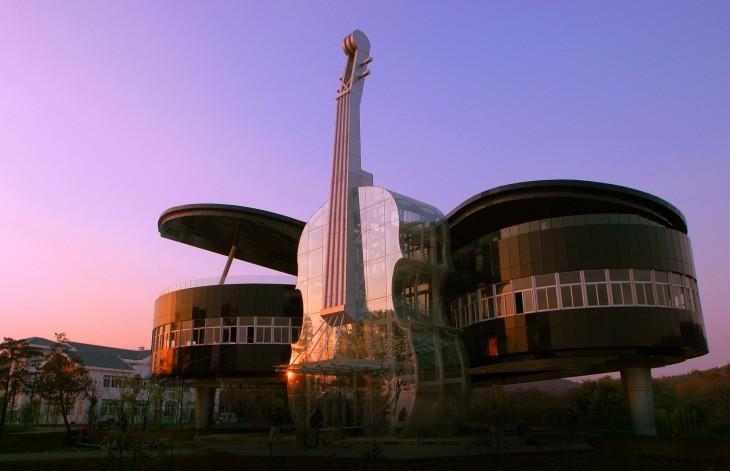 Os prédios mais loucos do Mundo - Casa Violoncelo - Ahhui, China