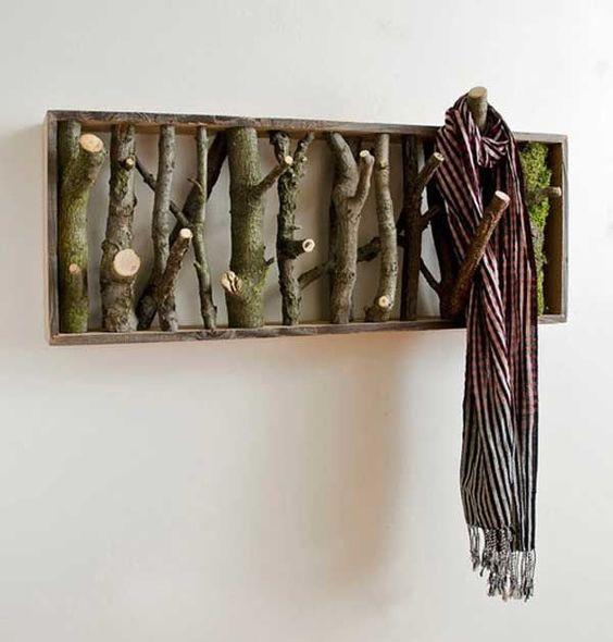 Faça você mesmo: Cabide feito de ramos de árvore