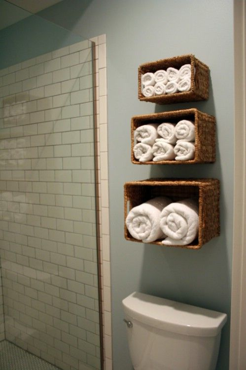 Faça você mesmo: cestos para toalhas