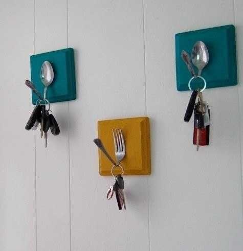 Faça você mesmo: talheres porta-chaves