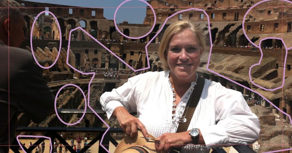 Teresa Guilherme, consegue adivinhar onde estou? No Coliseu de Roma!