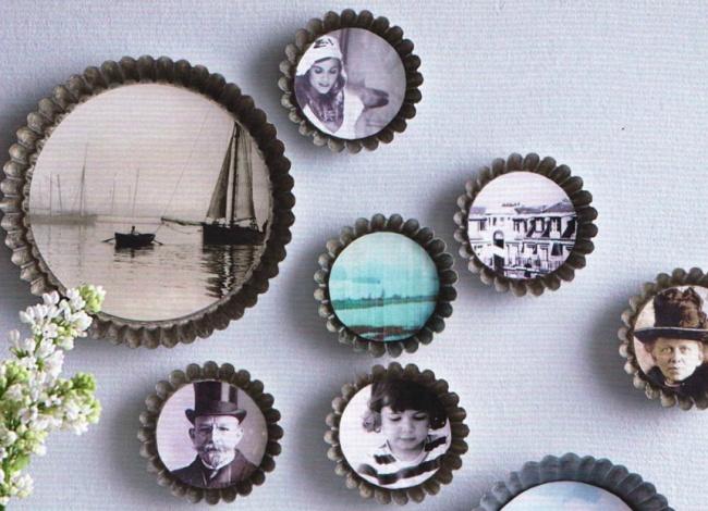 Dar vida nova a velhos utensílios de cozinha - transformar a formas de bolos em molduras de fotografias