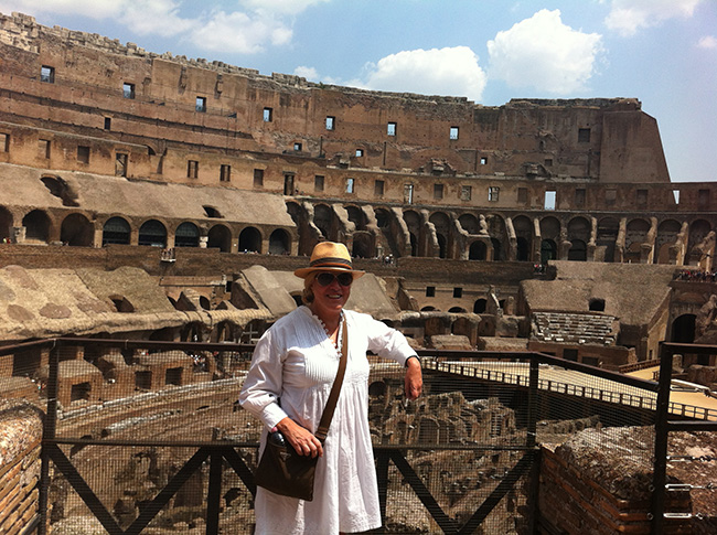 Teresa Guilherme no Coliseu de Roma