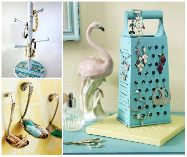 Dar vida nova a velhos utensílios de cozinha - transformar objectos de cozinha em guarda-jóias