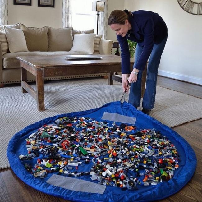 Ideias criativas para arrumações - saco para brinquedos das crianças