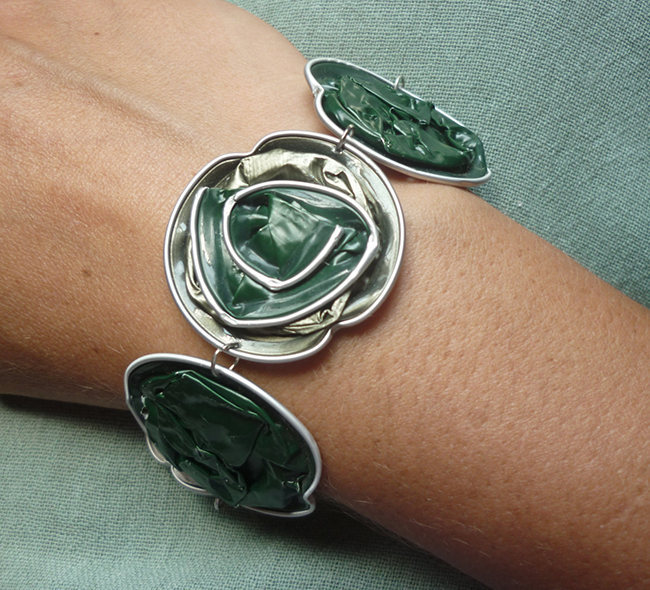 Ideias criativas para transformar cápsulas de café usadas em bijuteria - pulseira