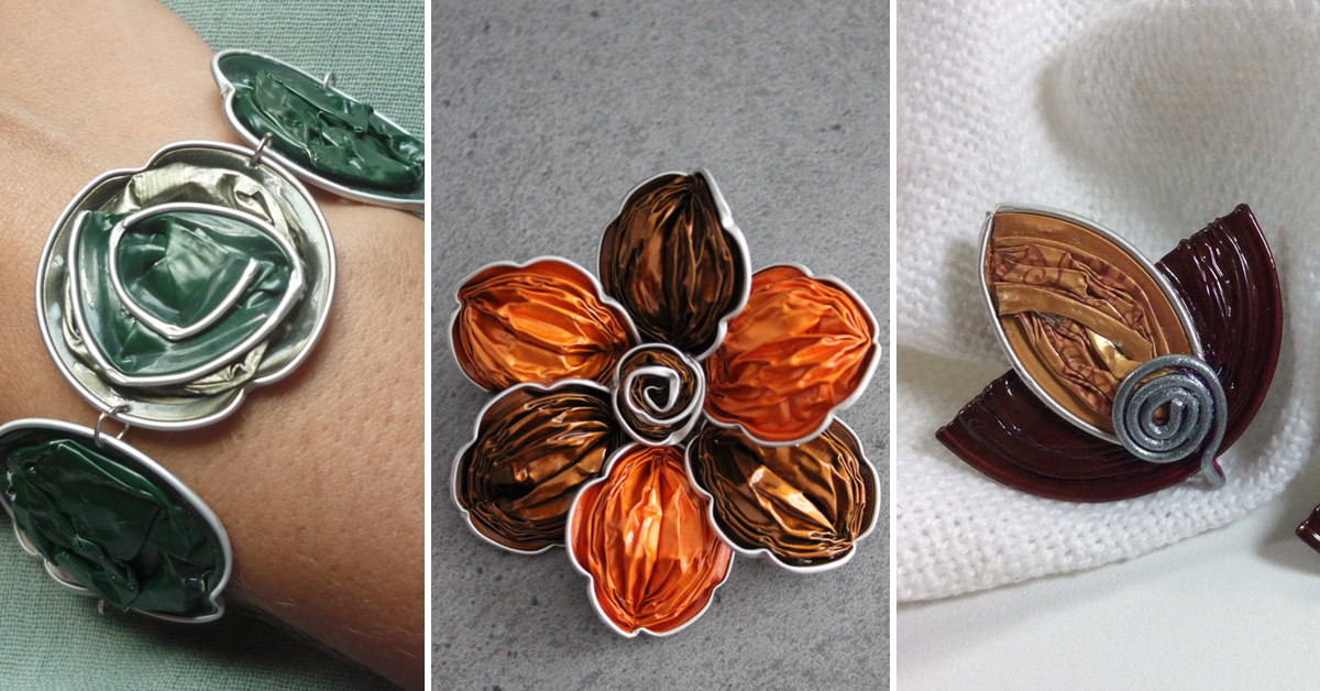 Ideias criativas para transformar cápsulas de café usadas em bijuteria