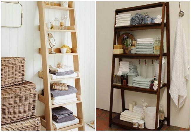 Ideias para dar uma vida nova à sua casa de banho - estantes