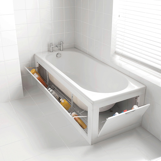 Ideias para dar uma vida nova à sua casa de banho - portas embutidas na banheira
