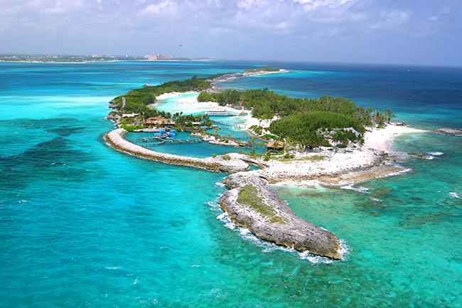 Praias paradisíacas pelo Mundo - Blue Lagoon, Bahamas