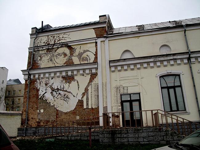 As maravilhosas obras de arte urbana de Vhils, um artista português - José Saramago