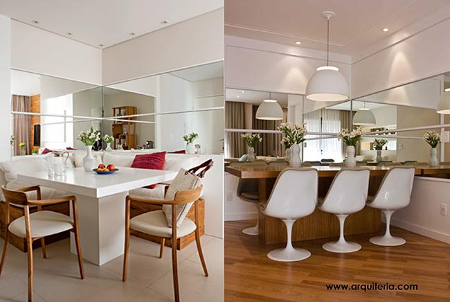 Truques de decoração para a sua casa parecer muito maior - use espelhos