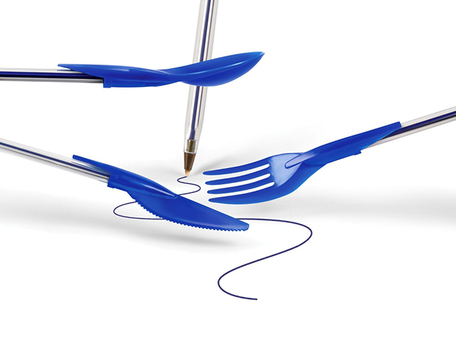 As invenções mais loucas do mundo - tampas de caneta talheres