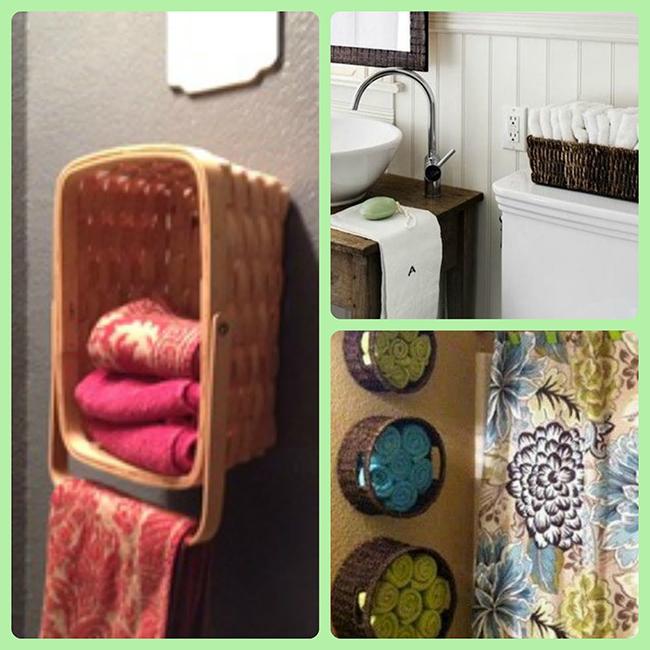 Ideias para dar uma vida nova à sua casa de banho - cestos para toalhas