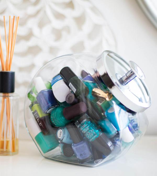 Ideias fantásticas para guardar a sua bijuteria - pote de bolachas