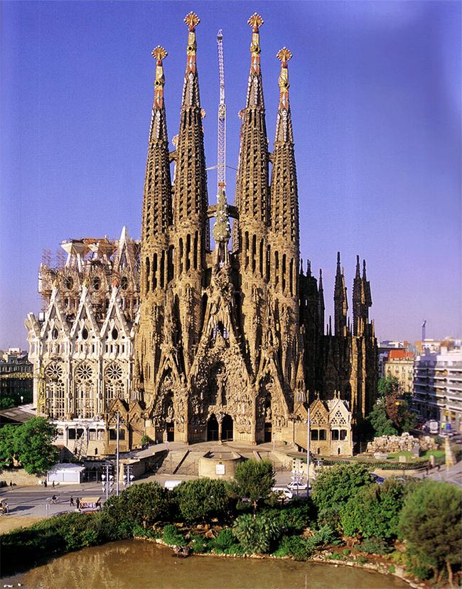 Monumentos mais fotografados do Mundo - Sagrada Família, Barcelona, Espanha