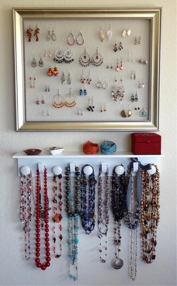 Ideias fantásticas para guardar a sua bijuteria - moldura com fios