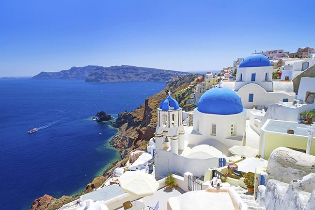 Praias paradisíacas pelo Mundo - Santorini, Grécia
