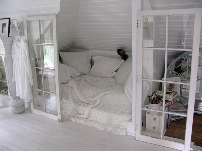 Camas de sonho - Cama branca integral
