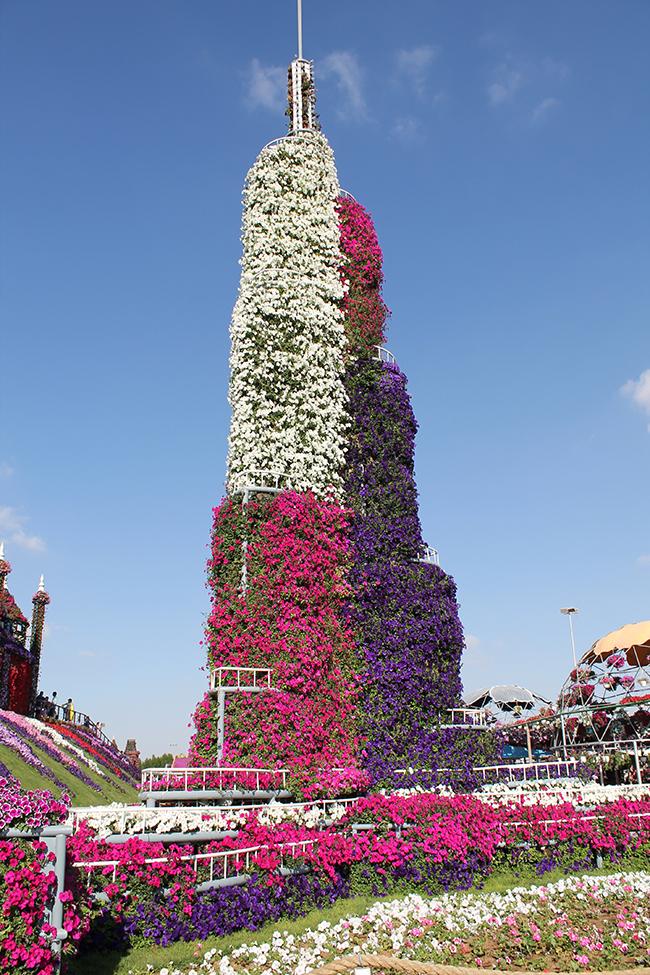 Jardins verticais dignos dos céus - Burj Khalifa, Dubai Miracle Garden, Dubai