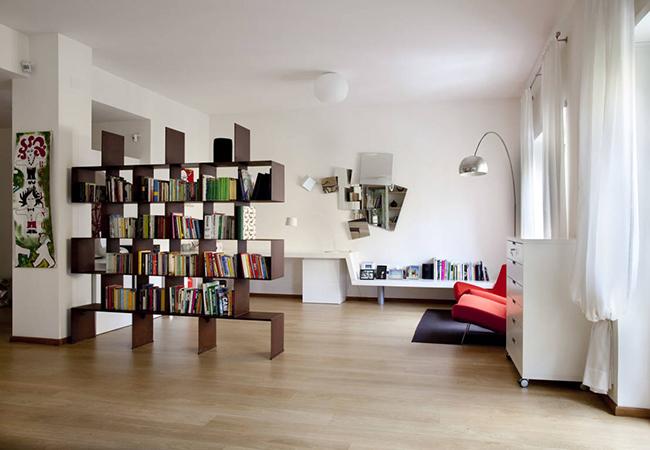 13 ideias fantásticas para organizar os seus livros - estantes divisórias